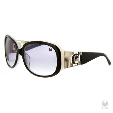 FERI - Singapore Black - Shields - Black colored frame - Acetate and metal construction with gold tone embellishment - Unique stone encrusted lens - Estimated Specification: Frame Height 45mm, Lens Width 55mm, Bridge Width 17mm, Overall Width of Frame 140mm - Lenses are UV 400 and provide protection against harmful UV rays - Acetate is a hypo allergenic plastic - Acetate is used for its shine, color depth and durability  www.gwtcorp.com/ghem or email fashionforghem.com for big discount