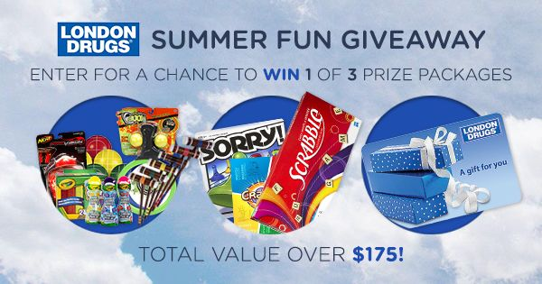 What is your favourite summertime game or activity?   Write your answer for a chance to win one of these amazing prizes! (total value $175). Contest ends on Monday, September 8, 2014 at 23:59pm. Winners will be drawn randomly after the draw closes.   Contest is open to all residents of BC, Alberta, Saskatchewan and Manitoba, no purchase necessary. Limit one entry per person.See contest rules and details.