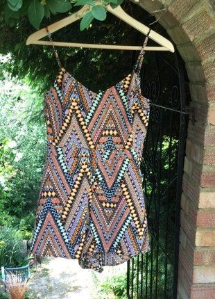 Buy here at #vinteduk http://www.vinted.co.uk/womens-clothing/playsuits/6767188-hm-multi-coloured-patterned-playsuit
