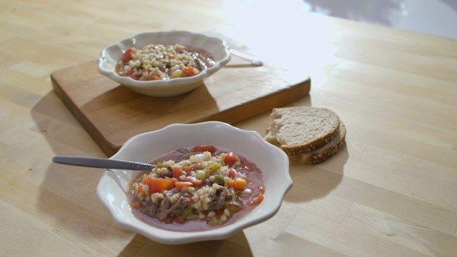Soupe au bœuf et à l'orge | Cuisine futée, parents pressés