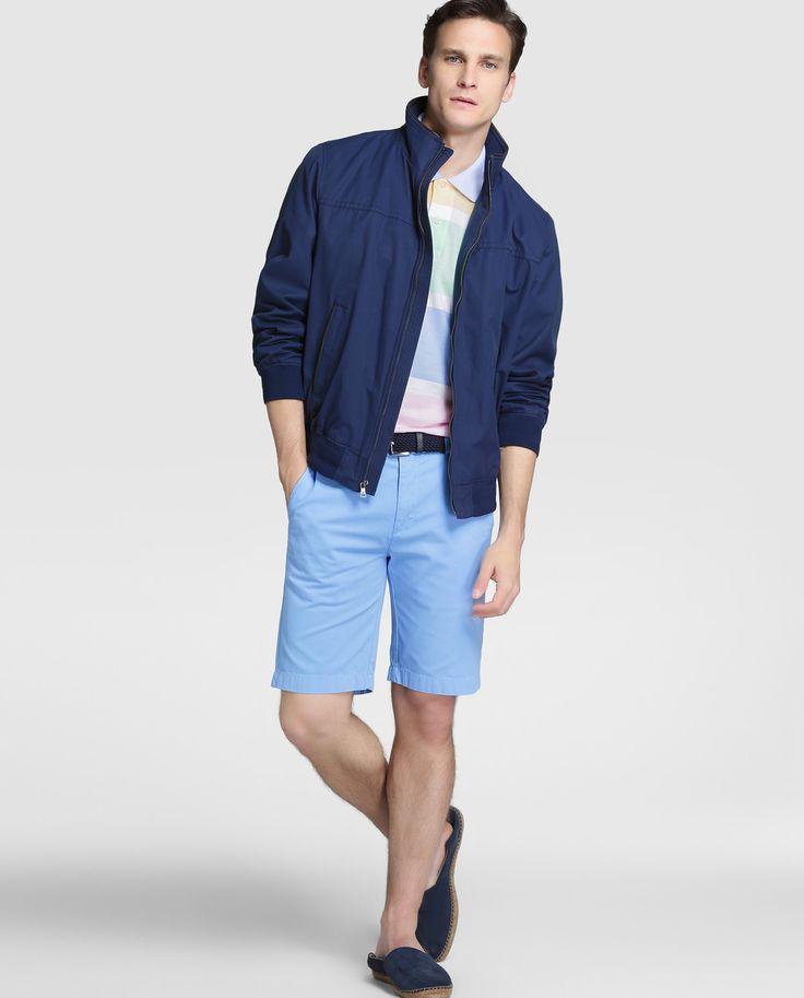 Cazadora de hombre Brooks Brothers azul con dos bolsillos · Brooks Brothers · Moda · El Corte Inglés