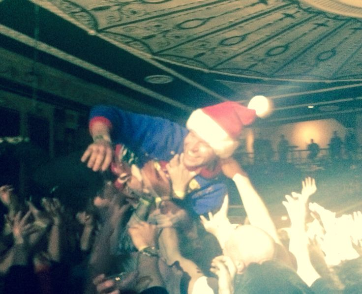 My photo of the same moment - Jay crowd surfing @ Rapids Theatre, Niagara Falls NY Dec19/14