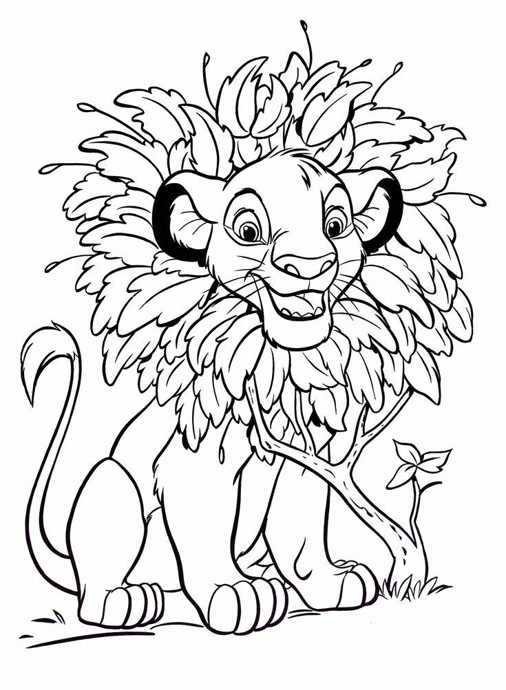 The Lion King Disney Coloring Page