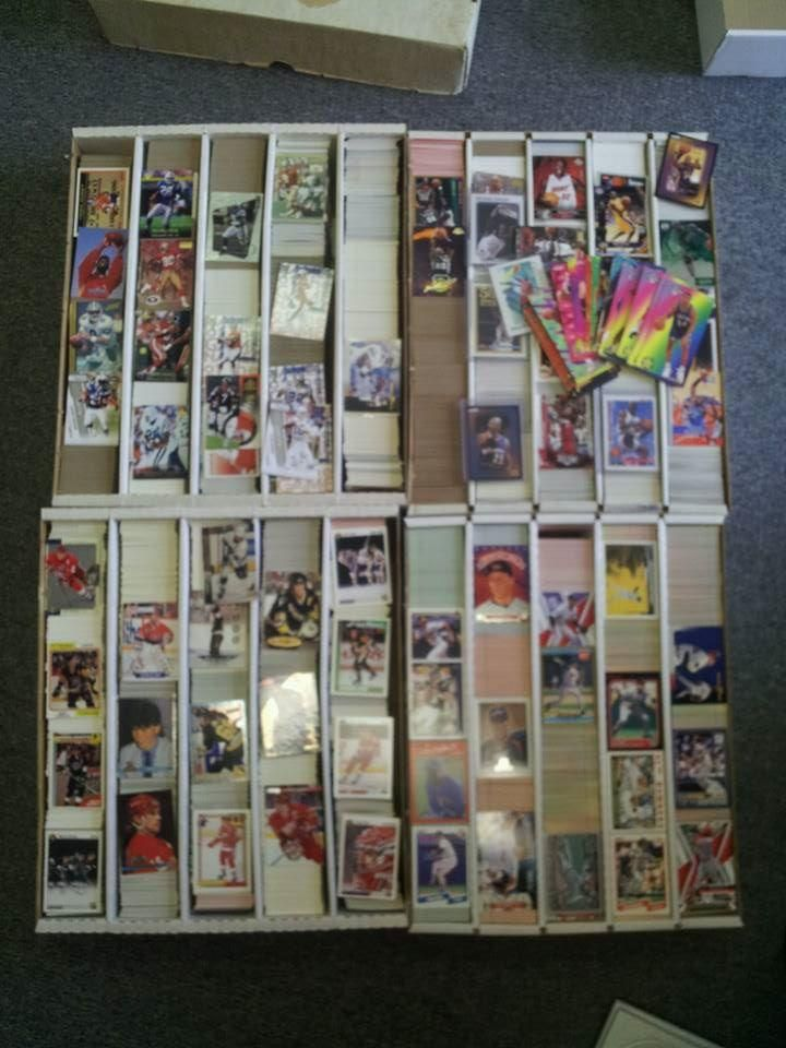 Lot of 20,000 Hockey, Baseball, Football, Basketball Cards, Plus Graded Cards!