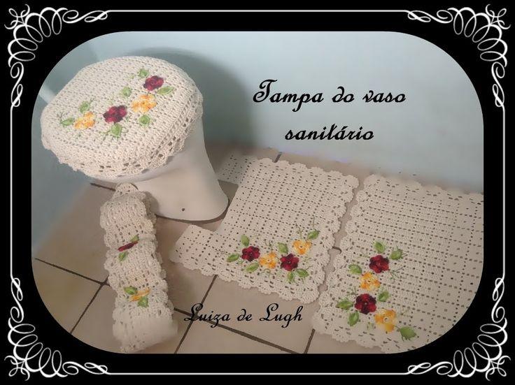 Jogo de Banheiro Crochê - Tampa do vaso #LuizadeLugh
