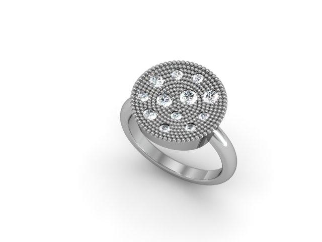 Concave Diamond Ring $3,425 at David Arlen Jewelers