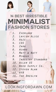 Less is more in this new trend. Channel your inner minimalist with these amazing staples from the 14 minimalist fashion online stores I cu...