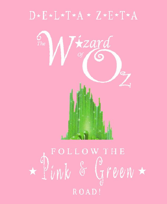 Omicron Nu's fall recruitment theme: The Wizard of Oz!