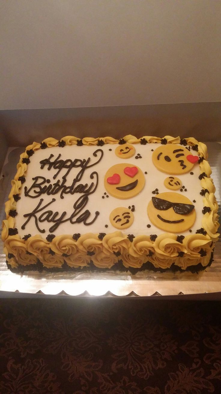 Emoji cake 1/4 sheet