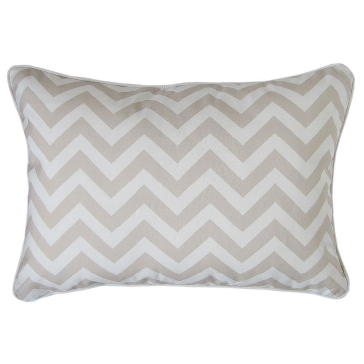 Beige Chevron Sanctuary Cushion - Escape to Paradise - on Temple & Webster today.  www.templeandwebster.com.au