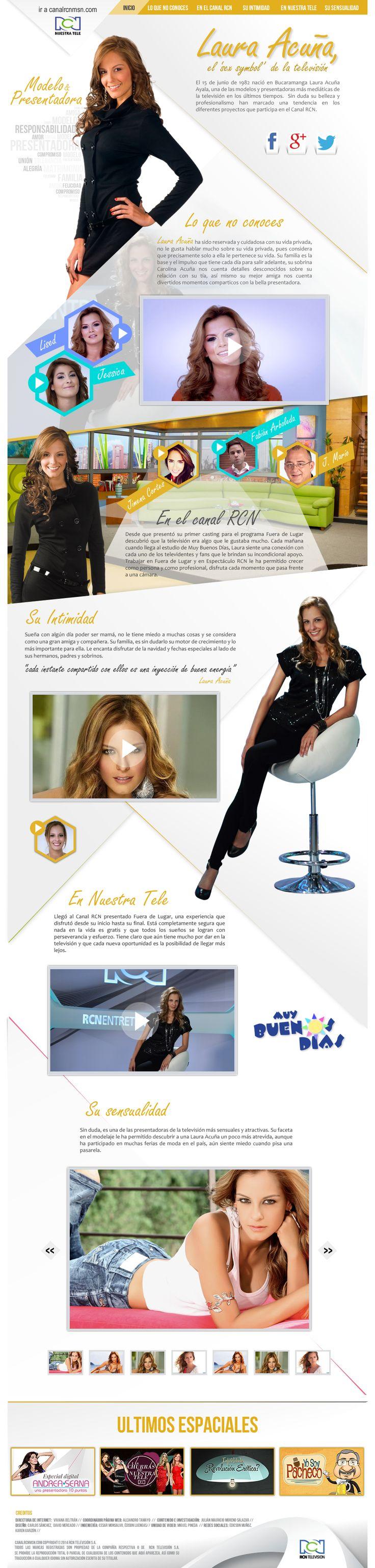 Especial Laura Acuna, presentadora del canal RCN Televisión