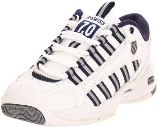 $74.99-$100.00 K-Swiss Women's Ultrascendor Low Tennis Shoe,White/Navy/Silver,10 M - The K-Swiss UltrAscendor combines performance features with lightweight materials and design elements that minimize the weight of the shoe. From the skeletalized outsole with exposed EVA to the unique design of the Cushion Board, each feature of the UltrAscendor was engineered to elevate the level of game play.Col ...