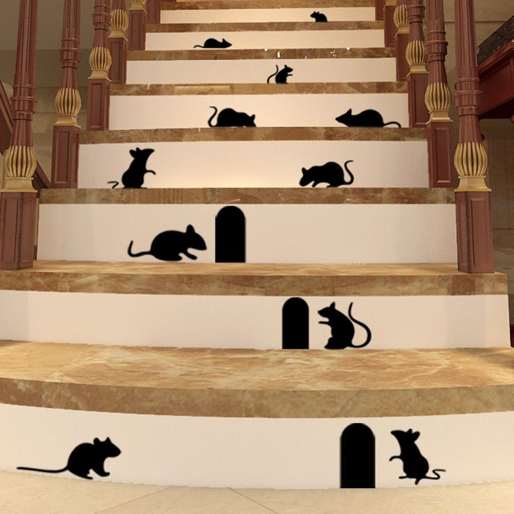 Creepy Mice Wall Decal