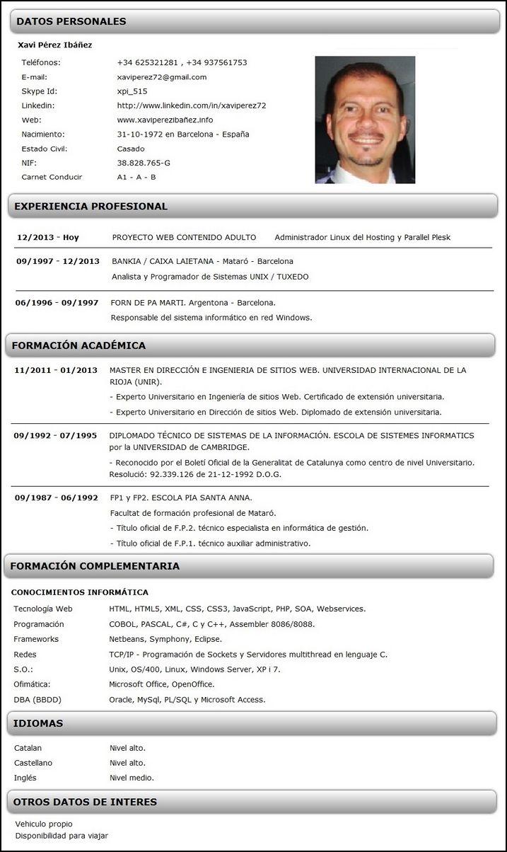 Modelos Y Ejemplos De Curriculum Vitae Los Mejores Curriculum Vitae Keyword Suggestion Curriculum