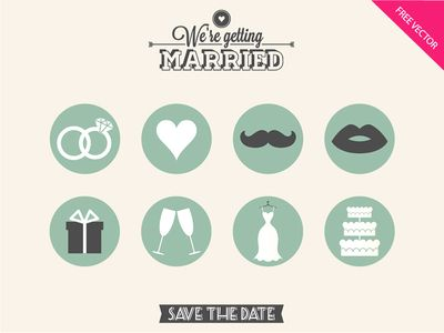 FREE #wedding #icons. Love it!