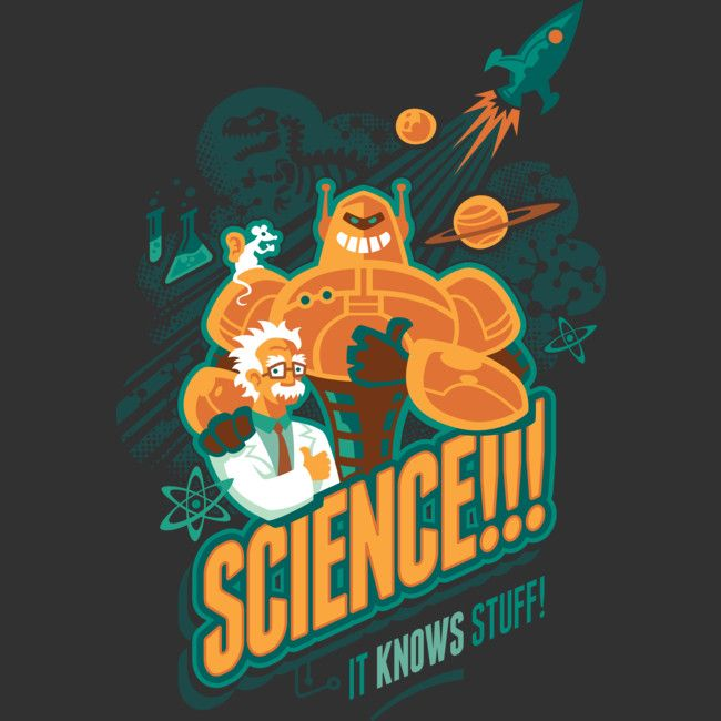 Science!!! It Knows Stuff! is a Tank Top designed by Waynem to illustrate your life and is available at Design By Humans