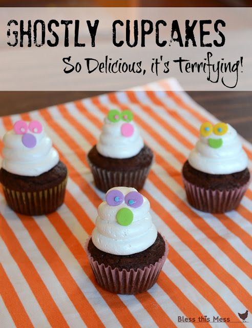 ghost cupcakes - Decorating Cupcakes For Halloween