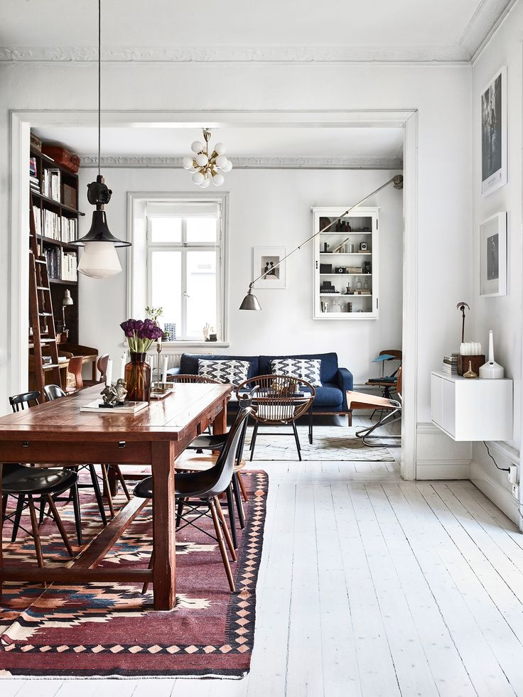 This home, belonging to Swedish photographers Kalle Gustafsson and Sara Bille, is the definition of perfect imperfection. The duo transformed a century old building, in Stockholm, into the most idyllic city dwelling - it