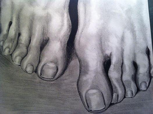 Pencil drawing feet www.inesreder.com