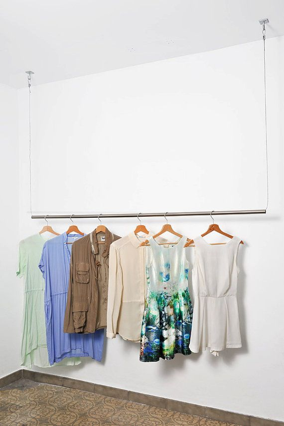 Brushed Hanging Clothes Rack  Pre Order by AvelereDesign on Etsy, $74.95