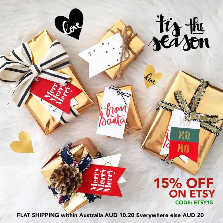 Time to finish off all your hardwork with these cute present toppers! Sometimes what's on the outside counts too!