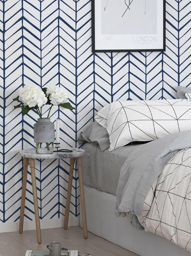 17 best ideas about vinyl wallpaper on pinterest tribal for Temporary bedroom walls