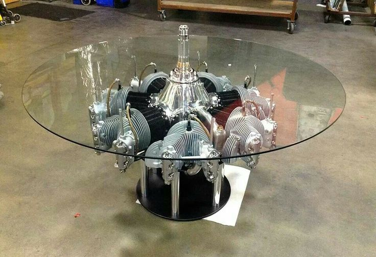 Continental Radial Engine Table by MotoArt.. | My Style & Cool Stuff.. |  Pinterest | Radial engine, Men cave and Man cave garage