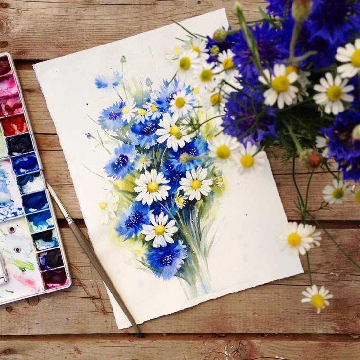 Sanatlı Bi Blog Çiçekleri Suluboya ile Resmeden Sanatçıdan İlham Verici 20 Çalışma 20
