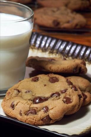 """Big Soft and Chewy Chocolate Chip Cookies from Food.com: """"These are the very best chocolate chip cookies you will ever make. They make spectacular ice cream sandwiches especially with coffee ice cream"""". From The New England Soup Factory."""