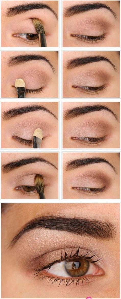 Maquillage nude naturel. 15 tutos de maquillages pour les yeux que vous allez adorer