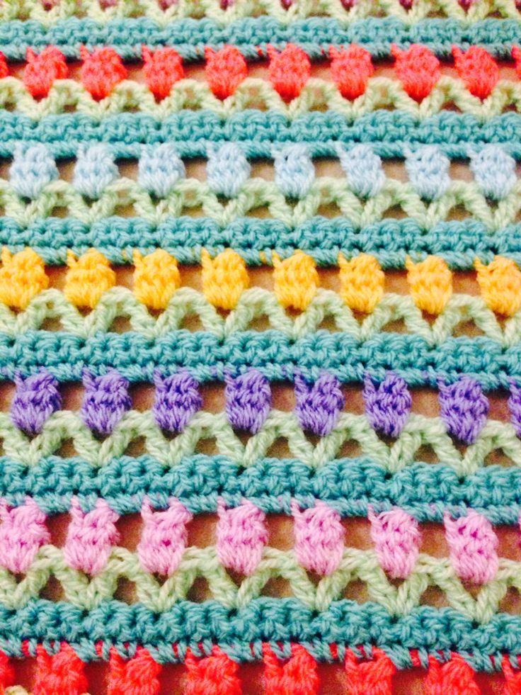Tulip crochet stitch