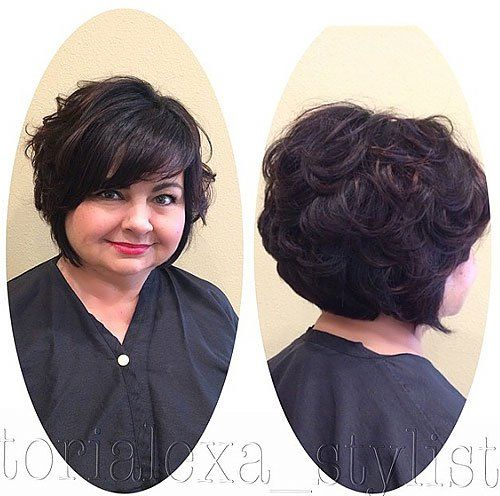 30 stylish and sassy bobs for round faces curly