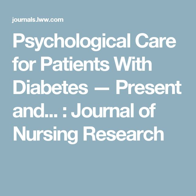 Psychological Care for Patients With Diabetes — Present and... : Journal of Nursing Research
