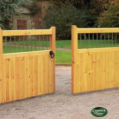 Image detail for -Bordeaux Wooden Driveway Gates from Cannock Gates