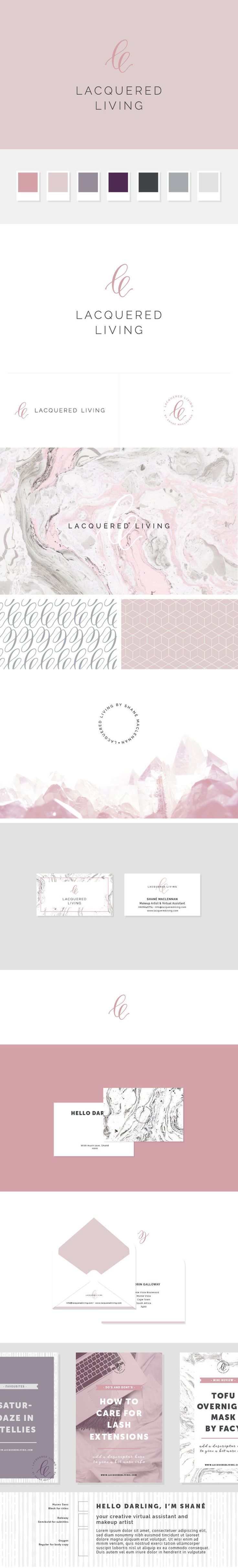 Lacquered Living Cape Town based Virtual Assistant and Makeup Artist brand styling and design by Freckled Design Studio