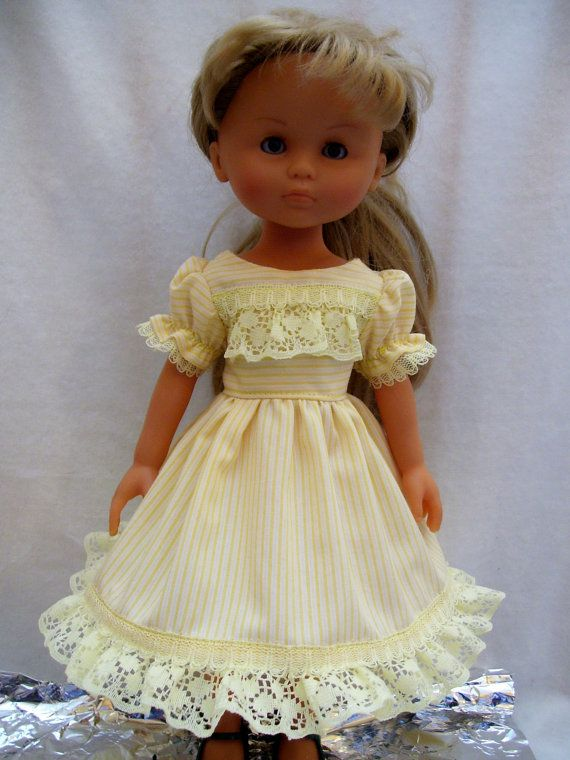 Corolle Les Cheries Doll Clothes, Yellow Lace Dress, fits 13-14inch Dolls