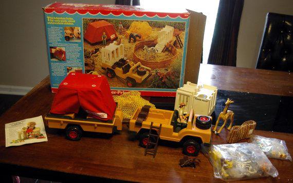Vintage Fisher Price Adventure People Safari Set 304 With Box Animals vintage and on sale ...