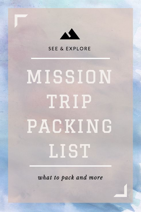 Mission trip packing list #travel