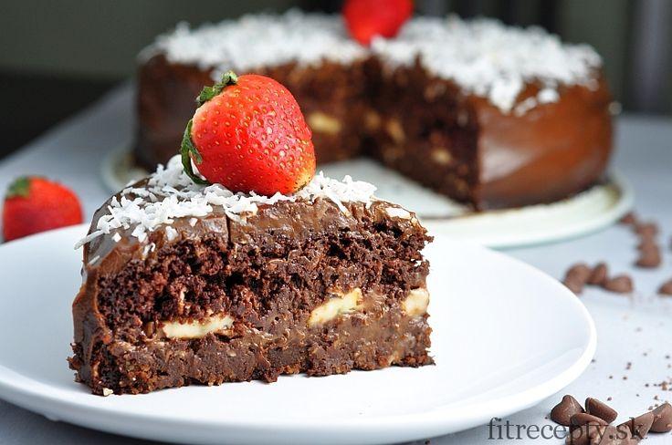 """Zdravá čokoládová fitness torta """"Čokoholik"""" - FitRecepty"""