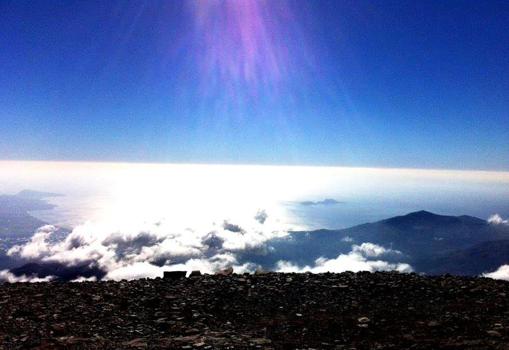 view from the Cretan Idi mountain...