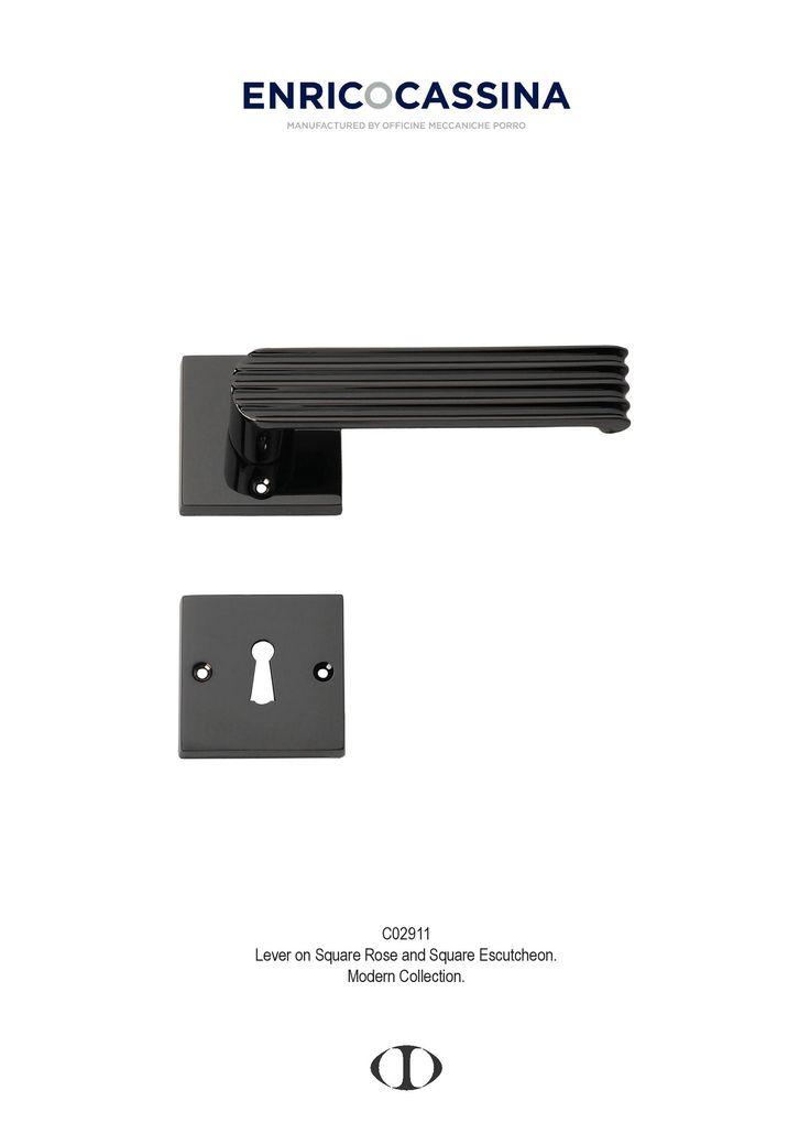 thirties, black nickel, lever on square rose, escutcheon, style, door handle