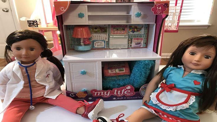 Escrivaninha para a boneca Our Generation