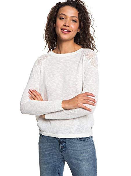 011e8b6be2f85 Roxy Womens Find Your Wings - Sweater - Women - Xs - White Marshmallow Xs