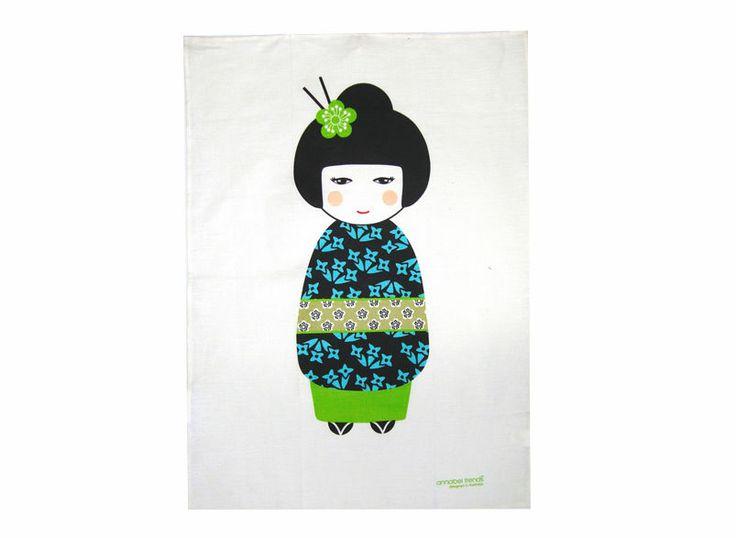Big Kimono 100%  Linen Tea Towel Annabel Trends Vibrant Stylish Contemporary