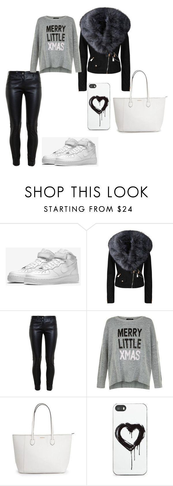"""""""Snowy Day"""" by beautynezz-dlxix ❤ liked on Polyvore featuring NIKE, Balenciaga and Zero Gravity"""