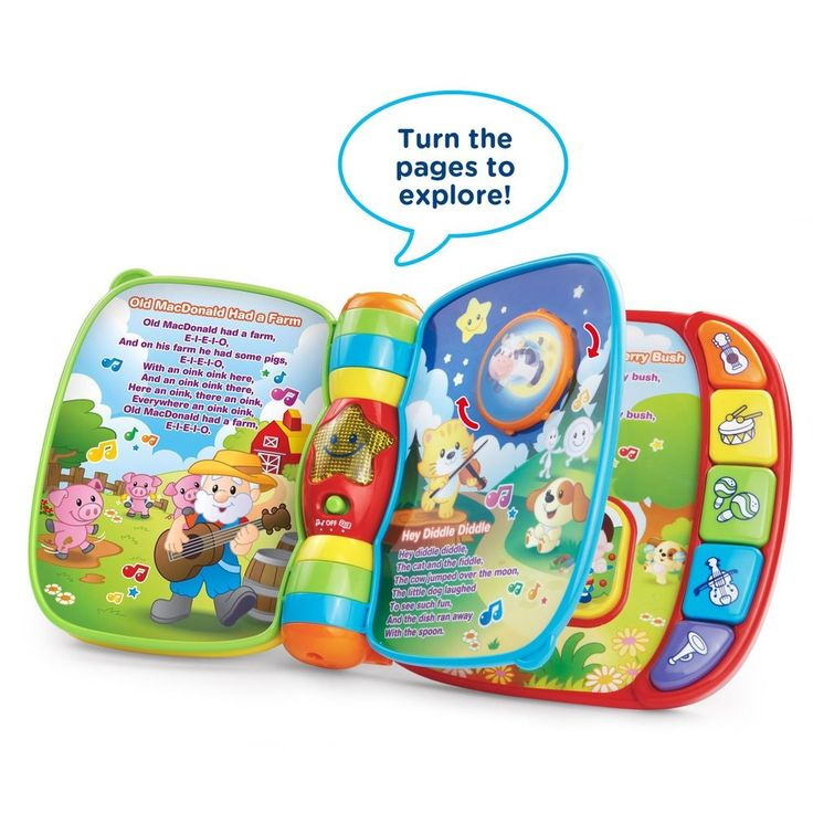 Musical Rhymes Book Early Education For Kids Toddlers Babies Builds Motor Skills #VTech