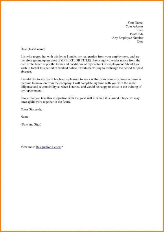 Professional Resignation Letter Sample Doc Professional