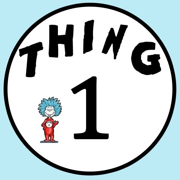 image relating to Thing 1 Logo Printable called Point 1 Print Outs Equivalent Keyword phrases Pointers - Issue 1