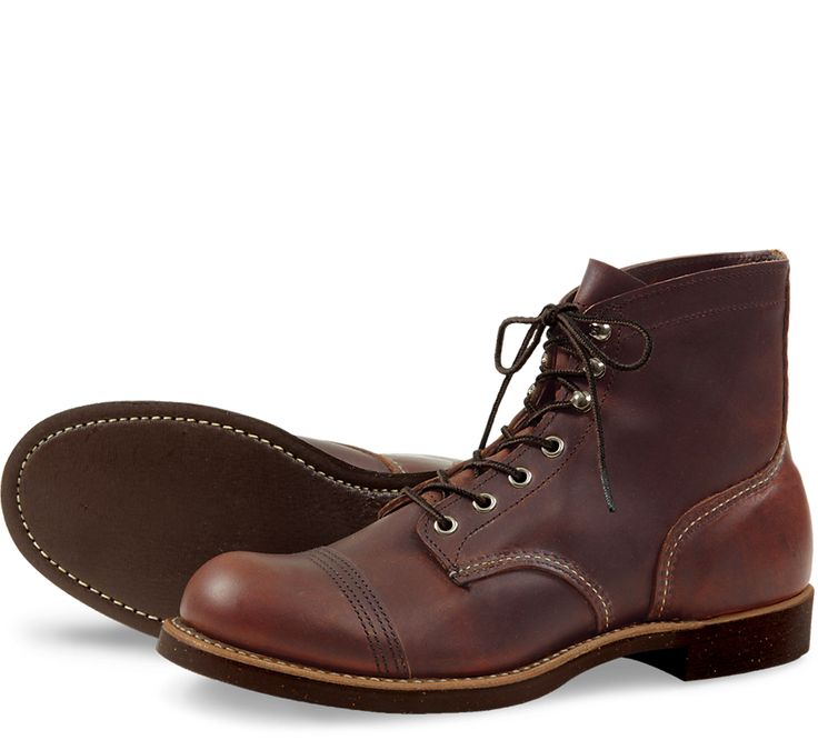 """RED WING IRON RANGER : STYLE NO. 8111 : 6"""" IN AMBER HARNESS LEATHER - Oil Tanned Leather"""