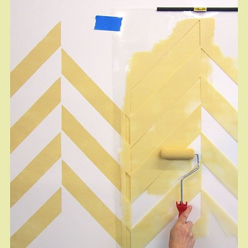 22 best How to paint chevron walls images on Pinterest | Paint ...
